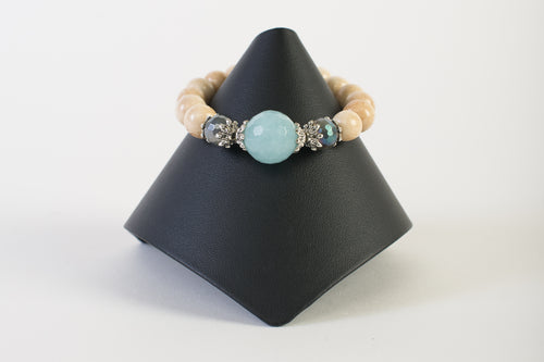 Chalcedony with Labradorite and Bone