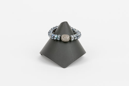Mystic Labradorite and Pave Diamond Bracelet