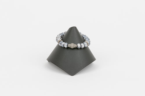Mystic Moonstone and Pave Diamond Bracelet