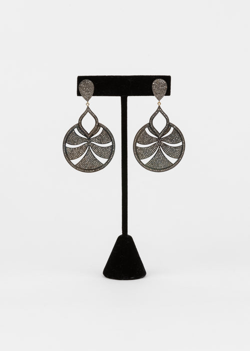 Pave Diamond Statment Earrings