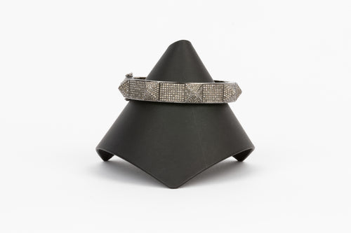 Pave Diamond Spike Bangle