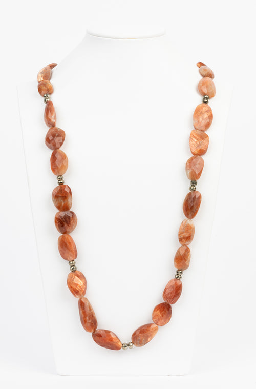 Sunstone and Pyrite Necklace