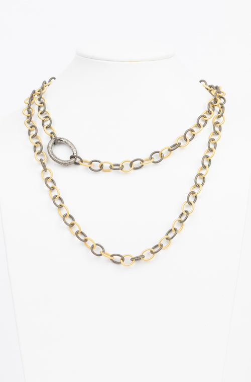 White Topaz and Vermeil Necklace