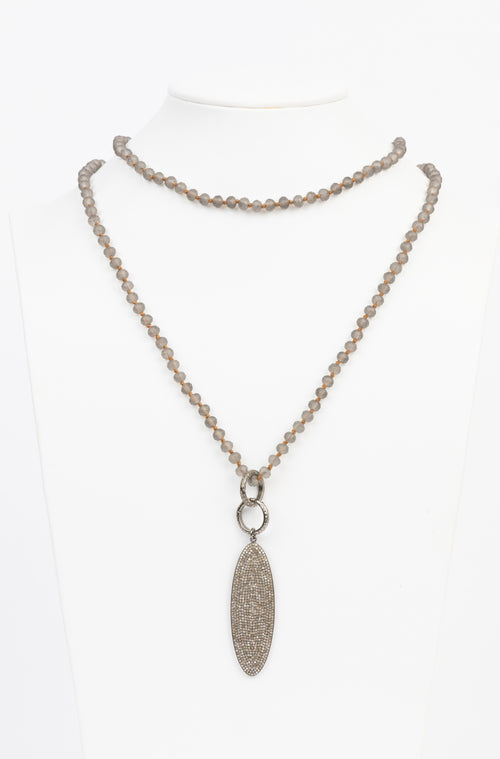 Pave Diamond, Crystal Necklace