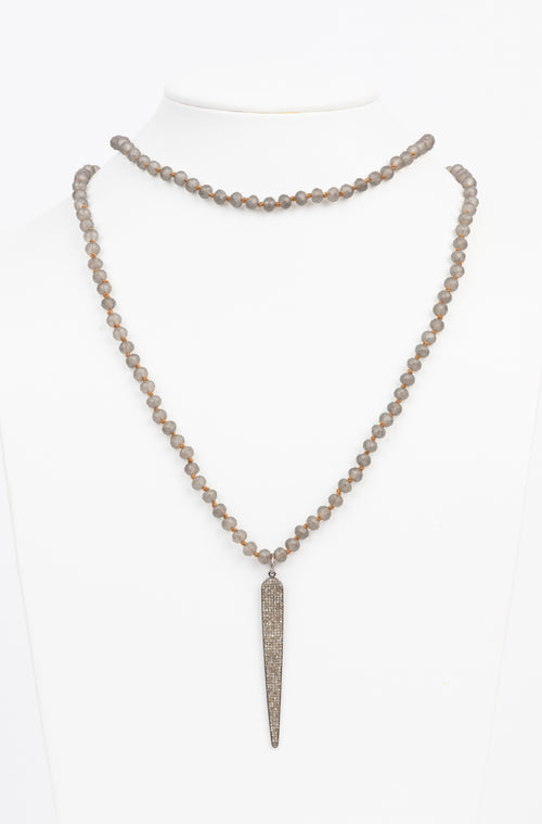 Pave Diamond Spike Necklace