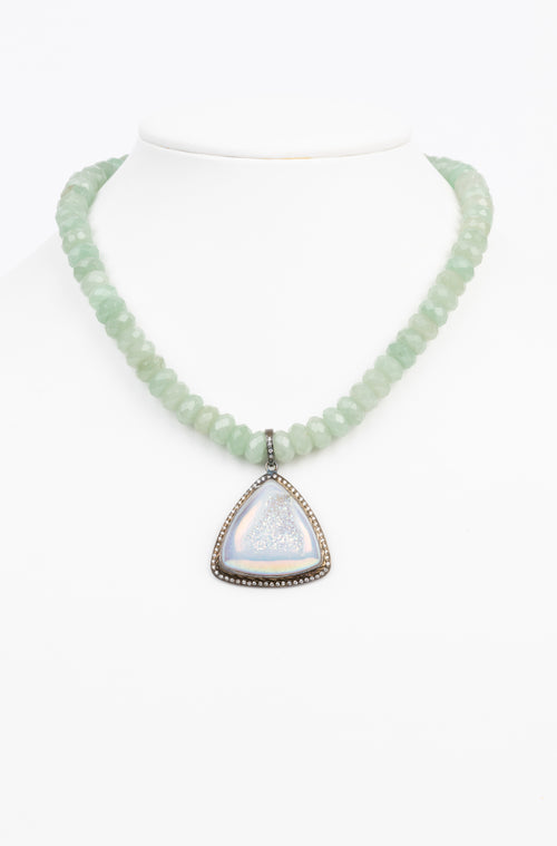 Druzy and Adventurine Necklace