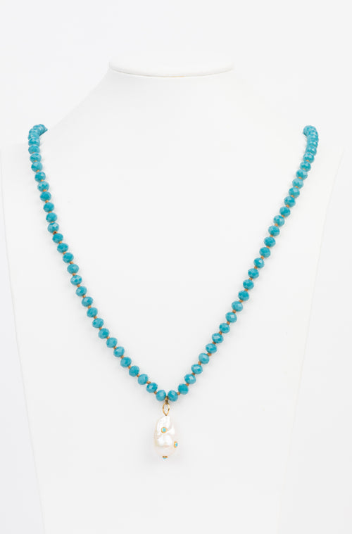 Turquoise, Pearl Necklace
