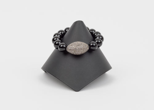 Pave diamond, black onyx