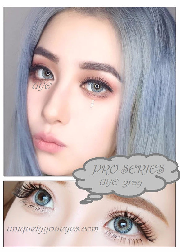 pro series gray colored natural contact lenses