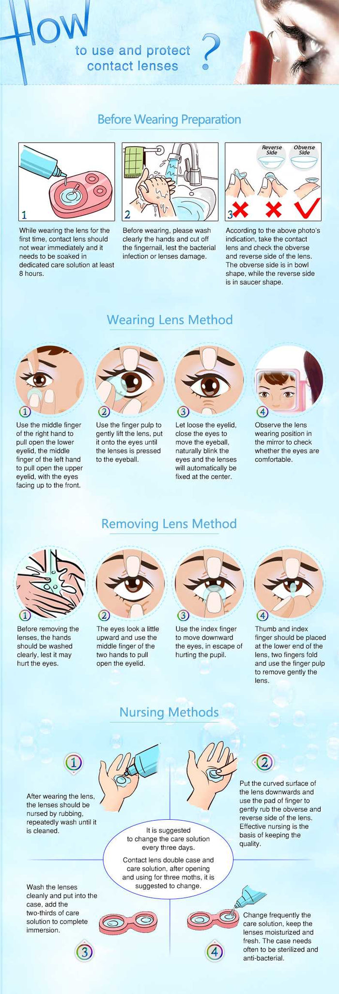 How to Use and Protect Contact Lenses