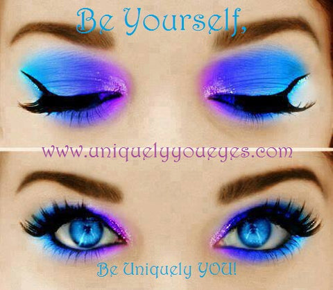 popular bright blue colored contact