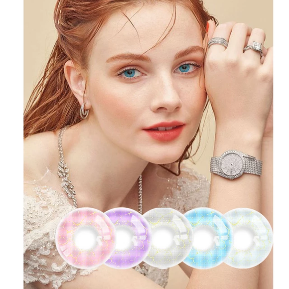 NEW GOSSIP GIRL ELECTRICALLY REAL COLORED CONTACT LENS 8 COLORS