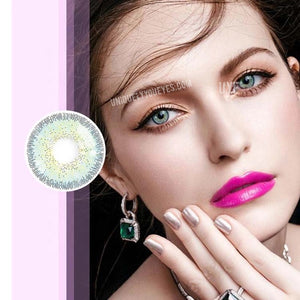 European Natural style Blue/Green colored Contact Lens