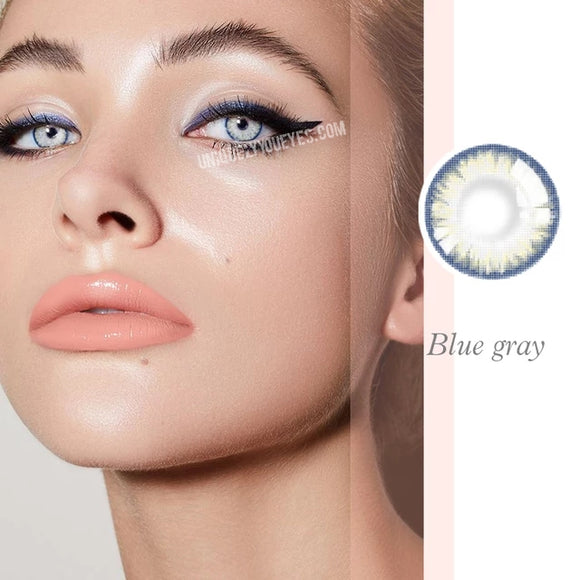 Pro Series Crystal Aqua Blue/Gray Colored Contacts