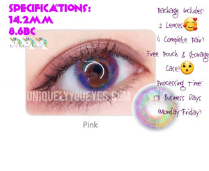 SALE! Most Loved! RIO 7 TONE Prism Mars Pink aka UNICORN LENSE-Luna Prism-UNIQUELY-YOU-EYES
