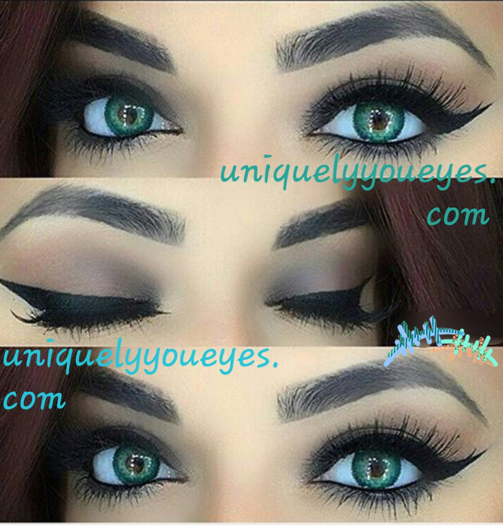 natural colored contacts turquoise 3 tone