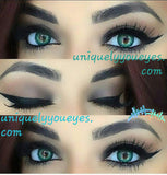 Natural Colored Contacts Turquoise 3 tone COLORED CONTACT LENSES-3 TONE-UNIQUELY-YOU-EYES