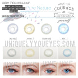 NEW Blue/Brown PURE NATURE COLORED CONTACTS-Pure Nature-UNIQUELY-YOU-EYES