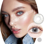 CUSTOMER TOP VOTED NATURAL Glass Ball Gray Colored Contacts-Glass Ball-UNIQUELY-YOU-EYES