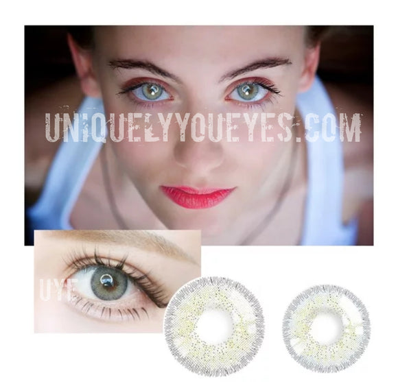 European Natural Sky Gray colored contacts