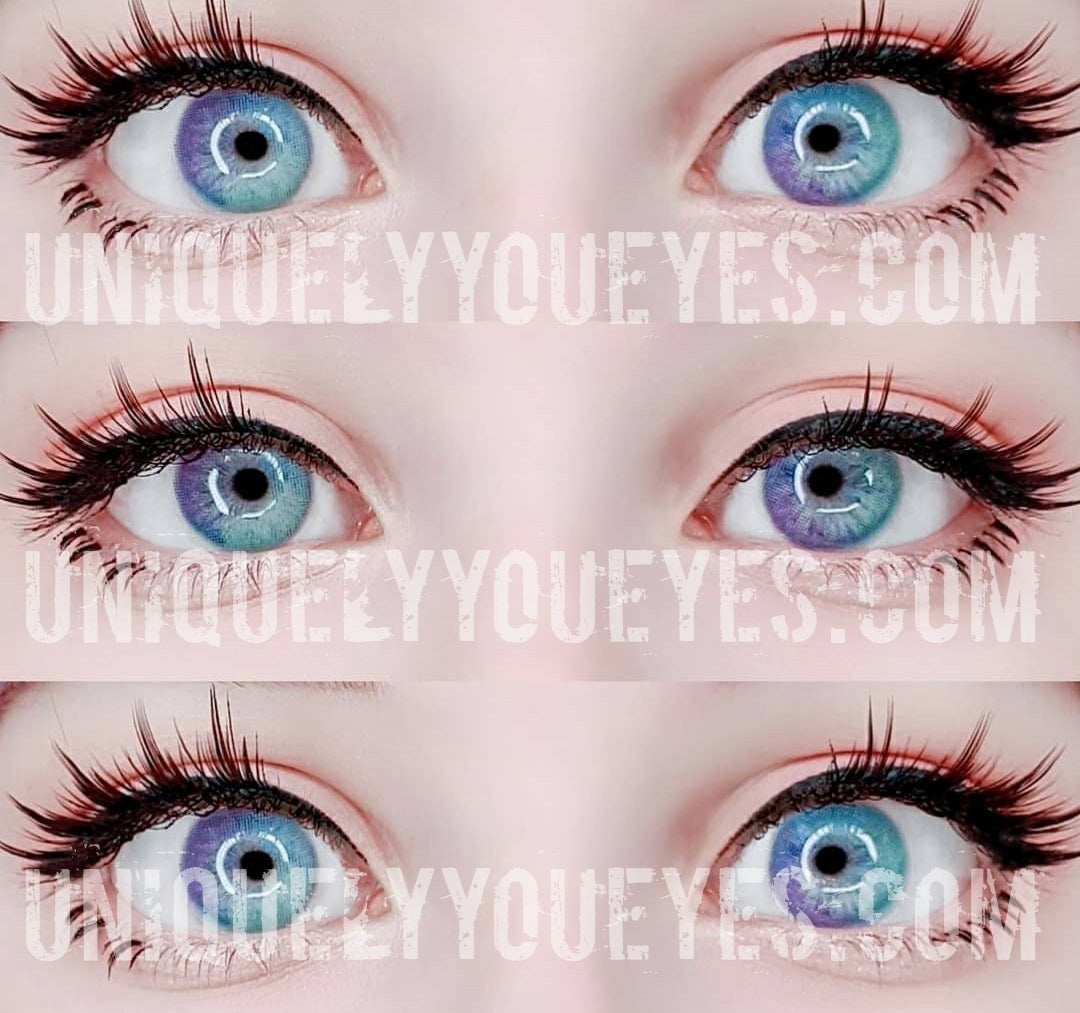 Rainbow Neon Blue Colored Contacts Uniquely You Eyes