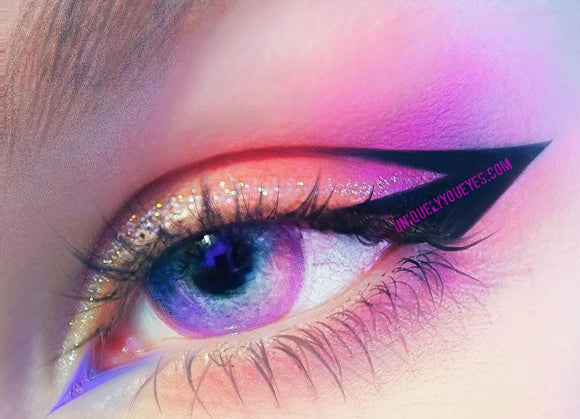 Rainbow NEON Pink Lush COLORED CONTACTS