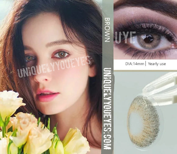 NEW WILDCAT Brown NATURAL COLORED CONTACTS-Wildcat-UNIQUELY-YOU-EYES