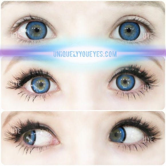 Blue dolly anime cosplay colored contacts
