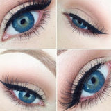 BIG EYED BLUES Colored Cosmetic Contacts NEW 3 TONE BRILLIANT BLUE