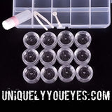 Contact Lense Travel Kit 6 Pair Transparent Display Case-Transparent 6 pair Lense Case-UNIQUELY-YOU-EYES