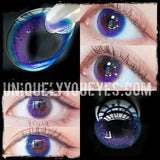 Rainbow NEON Blue COLORED CONTACTS