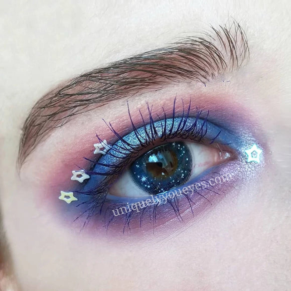 Glittering Fairytale Blue Colored Contacts