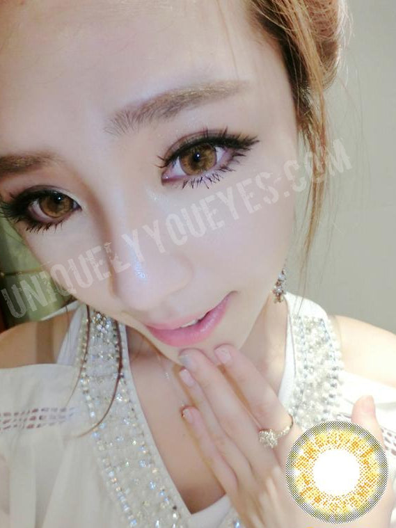 yellow brown hami colored contacts