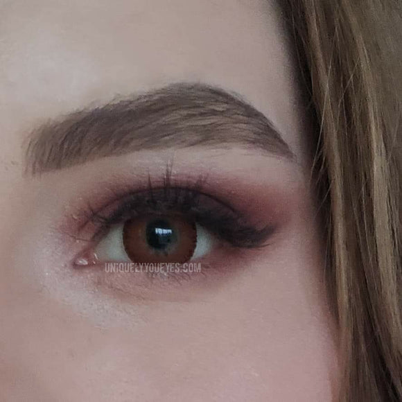 New Arrival ♡ CAPPUCCINO Natural Red Brown colored contacts