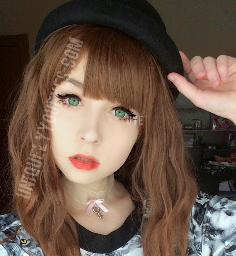 SHINING STAR LIGHT Green COSPLAY DOLLY CONTACTS - UNIQUELY ...