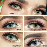 Deep Sea Jade (Green-Brown) Ocean Colored Contacts-Hidrocor Ocean-UNIQUELY-YOU-EYES