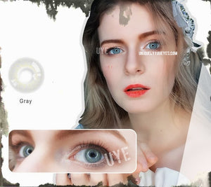ELECTRICALLY NATURAL Gray Grey Thunder COLORED CONTACT LENS GOSSIP GIRL-GOSSIP GIRL-UNIQUELY-YOU-EYES