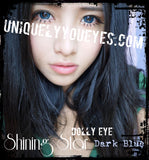 ♡pre-order♡BIG EYED BLUES Dolly Dark BLUE colored contacts-Shining Star-UNIQUELY-YOU-EYES