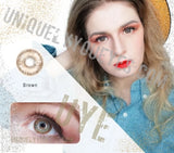 NEW Brown NATURAL COLORTONE colored contacts-Colortone-UNIQUELY-YOU-EYES