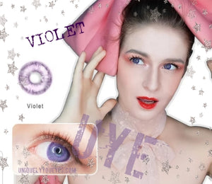 VIOLET NATURAL COLORTONE colored contacts