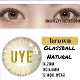 Glass Ball Hazel Brown Super Naturals-Glass Ball-UNIQUELY-YOU-EYES