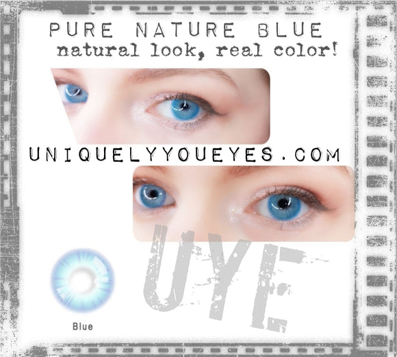NEW Blue PURE NATURE COLORED CONTACTS