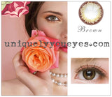 NATURAL Deep COLOR Brown Hazel Blends Coloured contacts-Fc-32-UNIQUELY-YOU-EYES