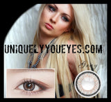 NEW NATURAL Deep COLOR Gray Silver Blends Coloured contacts-Fc-32-UNIQUELY-YOU-EYES