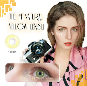 NEW THE FIRST NATURAL YELLOW COLORED CONTACT LENS GOSSIP GIRL-GOSSIP GIRL-UNIQUELY-YOU-EYES