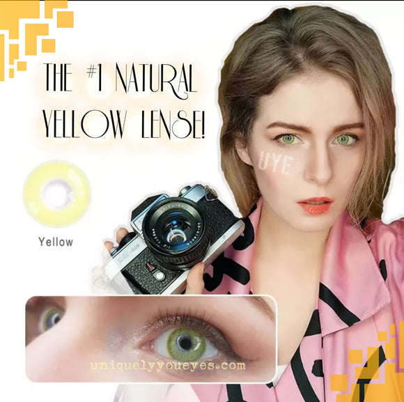 NEW THE FIRST NATURAL YELLOW COLORED CONTACT LENS GOSSIP GIRL