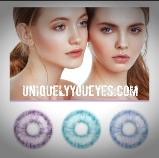 NEW BLUE NATURAL COLORTONE COLORED CONTACT LENSES