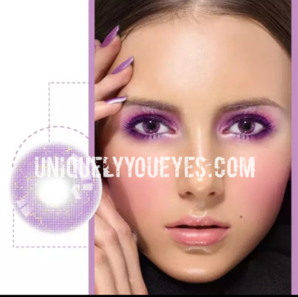 purple violet pink eyes