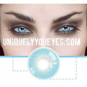 ELECTRICALLY NATURAL Electric Blue COLORED CONTACT LENS GOSSIP GIRL-GOSSIP GIRL-UNIQUELY-YOU-EYES