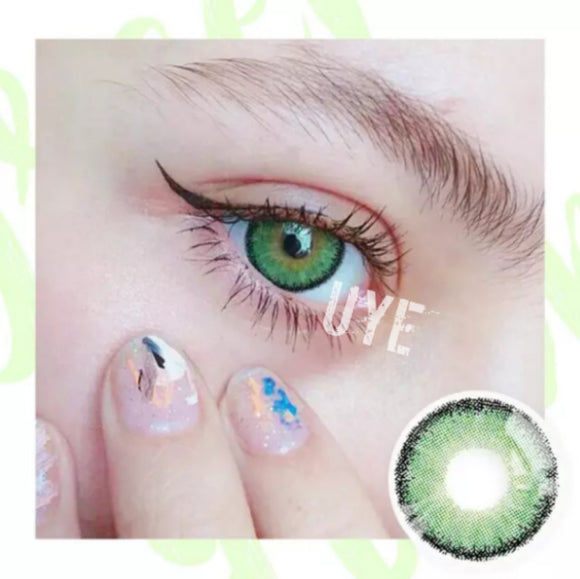 NATURAL PREMIUM CANDY DREAM COLOR Green Colored Contact Lens-Premium Candy Dream Color-UNIQUELY-YOU-EYES